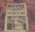 "1895 NICK CARTER LIBRARY #194 ""SAVED FROM THE FLAMES"" DIME NOVEL STORY PAPER"