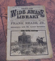 1884 FIVE CENT WIDE AWAKE LIBRARY 629 FRANK READE STEAM WONDER SCI FI DIME NOVEL
