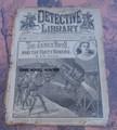 1897 NEW YORK DETECTIVE LIBRARY JESSE & FRANK JAMES DIME NOVEL STORY PAPER
