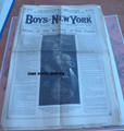 1886 BOYS OF NEW YORK 8 ISSUES SCARCE SCI FI FRANK TOUSEY DIME NOVEL STORY PAPER