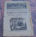 """1898 OLD CAP COLLIER #772 """"MYSTERY OF THE SEVERED HAND"""" DIME NOVEL STORY PAPER"""