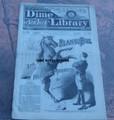 1885 BEADLE'S NEW YORK DIME LIBRARY #342 BUCKSKIN SAM DIME NOVEL STORY PAPER