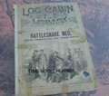 1890 LOG CABIN LIBRARY #82 NED BUNTLINE RATTLESNAKE NED STORY PAPER DIME NOVEL