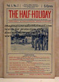 THE HALF-HOLIDAY # 02 UPTON SINCLAIR SCARCE DIME NOVEL STORY PAPER