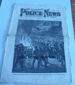 ILLUSTRATED POLICE NEWS #337 1873 WHITE STAR STEAMSHIP WRECK FULL FOLD OUT