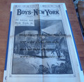 FRANK READE'S ELECTRIC MAN IN THE BOYS OF NEW YORK FRANK TOUSEY 1886 STORY PAPER