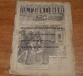 LOG CABIN LIBRARY #206 1895 DIME NOVEL STORY PAPER
