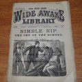 OVERSIZED FIVE CENT WIDE AWAKE LIBRARY #575 FRANK TOUSEY DIME NOVEL STORY PAPER