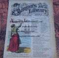 "1878 BEADLE'S SINGER HALF DIME LIBRARY #17  ""SEE VIDEO""  DIME NOVEL STORY PAPER"