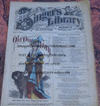 "1878 BEADLE'S SINGER HALF DIME LIBRARY #14  ""SEE VIDEO""  DIME NOVEL STORY PAPER"