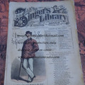 "1878 BEADLE'S SINGER HALF DIME LIBRARY #10  ""SEE VIDEO""  DIME NOVEL STORY PAPER"
