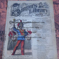 "1878 BEADLE'S SINGER HALF DIME LIBRARY #26  ""SEE VIDEO""  DIME NOVEL STORY PAPER"
