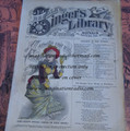 "1878 BEADLE'S SINGER HALF DIME LIBRARY #5  ""SEE VIDEO""  DIME NOVEL STORY PAPER"