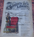 "1878 BEADLE'S SINGER HALF DIME LIBRARY #22  ""SEE VIDEO""  DIME NOVEL STORY PAPER"