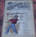 "1878 BEADLE'S SINGER HALF DIME LIBRARY #27  ""SEE VIDEO""  DIME NOVEL STORY PAPER"