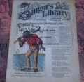 "1878 BEADLE'S SINGER HALF DIME LIBRARY #28  ""SEE VIDEO""  DIME NOVEL STORY PAPER"