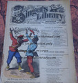 "1878 BEADLE'S SINGER HALF DIME LIBRARY #37  ""SEE VIDEO""  DIME NOVEL STORY PAPER"
