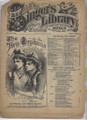 1879 BEADLE'S SINGER'S HALF DIME LIBRARY #19 SCARCE DIME NOVEL STORY PAPER