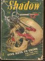 1945 THE SHADOW MAGAZINE BLOODY SKULL PULP COMIC BOOK