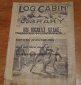LOG CABIN LIBRARY #320 1895 DIME NOVEL STORY PAPER