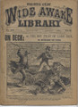 1896 FIVE CENT WIDE AWAKE LIBRARY 1271 ADVENTURE STORY DIME NOVEL STORY PAPER
