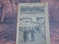 1897 OLD CAP COLLIER #698 RAILROAD MYSTERY DIME NOVEL STORY PAPER