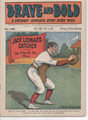 BASEBALL GREAT CATCHER COVER BRAVE & BOLD 228 DIME NOVEL STORY PAPER OLD WEST