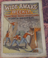 WIDE AWAKE WEEKLY #131 SCARCE FIREMAN FIRE FIGHTING DIME NOVEL STORY PAPER
