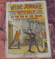 WIDE AWAKE WEEKLY #33 SCARCE FIREMAN FIRE FIGHTING DIME NOVEL STORY PAPER