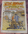 WIDE AWAKE WEEKLY #35 SCARCE FIREMAN FIRE FIGHTING DIME NOVEL STORY PAPER