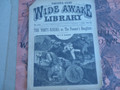 1892 WIDE AWAKE LIBRARY # 1121 THE FORTY-NINERS STORE DIME NOVEL STORY PAPER