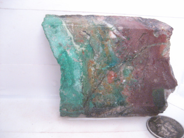 Copper Minerals in Quartz