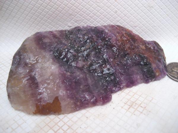 Banded Purple Fluorite*'