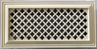 """Ribbon Register 14"""" x 6"""" Resin Vent Cover Grille . Overall size 16"""" x 8"""""""