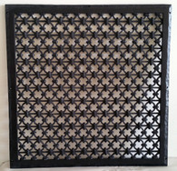 Iron Ring 24x24 Resin Grille in Oil Rubbed Bronze. Overall size 26x26