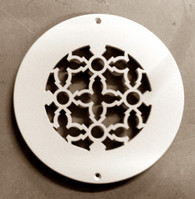 """4"""" Round Heritage Flat Frame Grille"""
