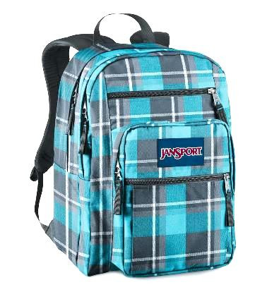 new images of beautiful in colour new product JANSPORT - Big Student - Blinded Blue Grey Duke Plaid XL BACKPACK