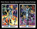 Peter Parsec  / Carrie Sabres Team-Up Poster Package