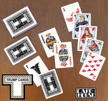 Trump Cards -- a real game changer! This custom deck of comical playing cards is just perfect for whiling away those long hours in anticipation of the next inauguration.