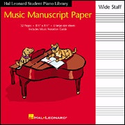Hal Leonard Student Piano Library Music Manuscript Paper – Wide Staff