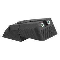 Kensight ® (DAS) 1911 Sights Adjustable Rear Tritium Sight, Night Sights, Serrated Blade - Fits Novak ® LoMount ™ Sight Dovetail Cut