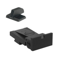 "Kensight ® Target 1911 Sights Set with Square Blade - Serrated 0.200"" Front Sights - Fits Bomar ® BMCS ™ Sight Dovetail Cut"