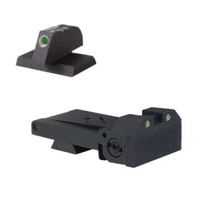 "BoMar BMCS 1911 Kensight Sight Set - Night Sights with Beveled Tritium Blade - Tritium 0.200"" Front Sights (960-095)"