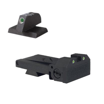 "BoMar BMCS 1911 Kensight Sight Set - Night Sights with Beveled Tritium Blade - Tritium 0.200"" Front Sights (960-095)"