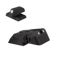 """Kensight DAS 1911 Defense Adjustable Rear Sight Set White Dot with Serrated Blade - White Dot 0.200"""" Front Sights (960-678)"""