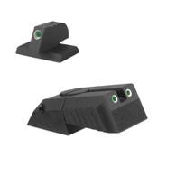 """Kensight DAS 1911 Defense Adjustable Rear Sight Set Tritium insert - Night Sights Serrated Blade - 0.200"""" Front Sight"""