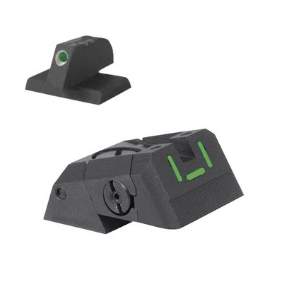 "Kensight DAS 1911 Defensive Adjustable Night Sight Set - ""U"" Shaped Tritium Rear - 0.230"" Tall Front Sight"