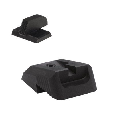 """Kensight DFS 1911 Defense Fixed Rear Sight Set with Recessed Blade Serrated - 0.160"""" Tall Front Sight (960-601)"""