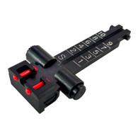 AK74 Variant Kensight Rifle Rear Sight with Fiber Optic Inserts -100m -1000m 860-993