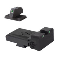 "Kensight Target 1911 Sights Set Trijicon Tritium insert - Night Sights  with Rounded Blade - 0.200"" tall Front Sight - Fits LPA ® TRT ™ Sight Dovetail Cut"
